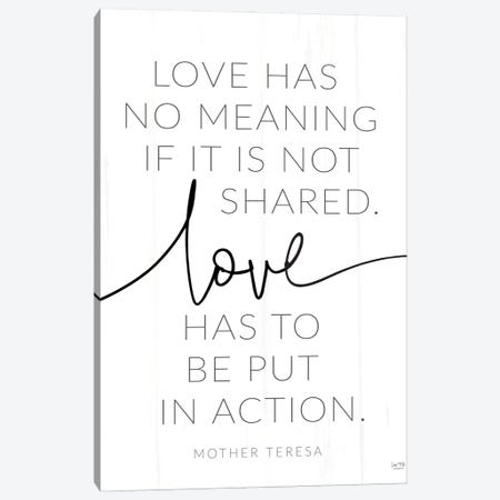 Love - Action Canvas Print #LXM39} by Lux + Me Designs Canvas Artwork