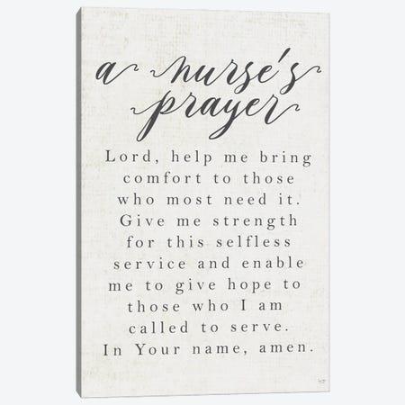 A Nurse's Prayer Canvas Print #LXM3} by Lux + Me Designs Canvas Art