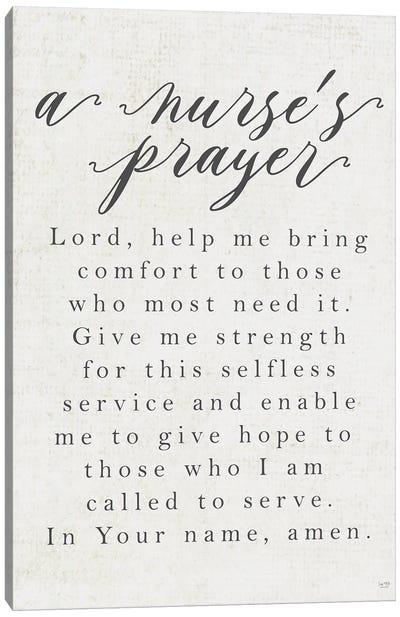 A Nurse's Prayer Canvas Art Print