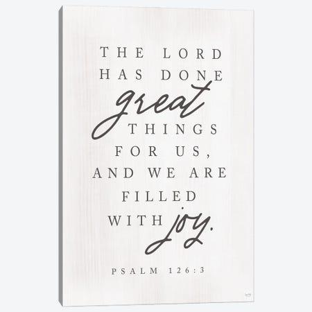 Psalm 126:3 Canvas Print #LXM41} by Lux + Me Designs Art Print