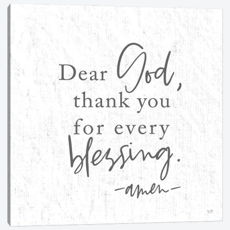 Thank You for Every Blessing Canvas Print #LXM43} by Lux + Me Designs Art Print