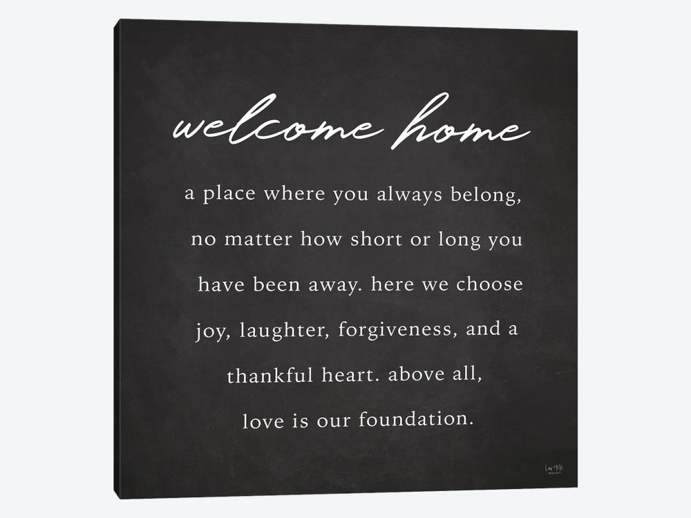 Welcome Home by Lux + Me Designs 1-piece Canvas Print