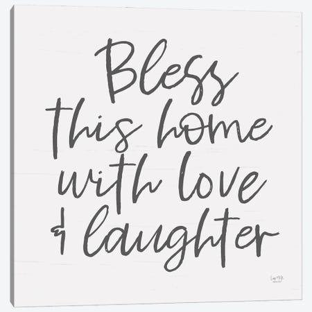 Bless This Home Canvas Print #LXM63} by Lux + Me Designs Canvas Print