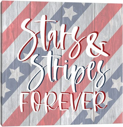 Stars And Stripes Forever I Canvas Art Print