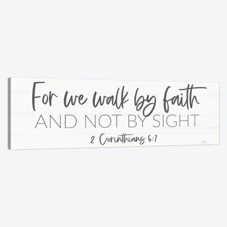 Walk By Faith Canvas Print #LXM67} by Lux + Me Designs Canvas Wall Art