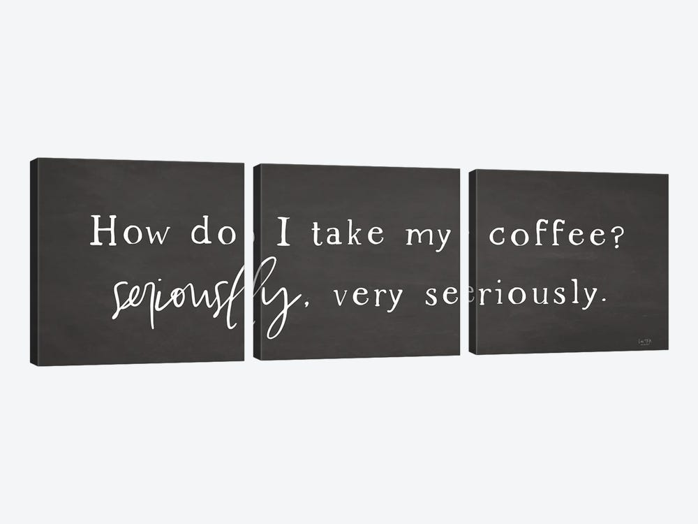 Coffee is Serious by Lux + Me Designs 3-piece Canvas Print
