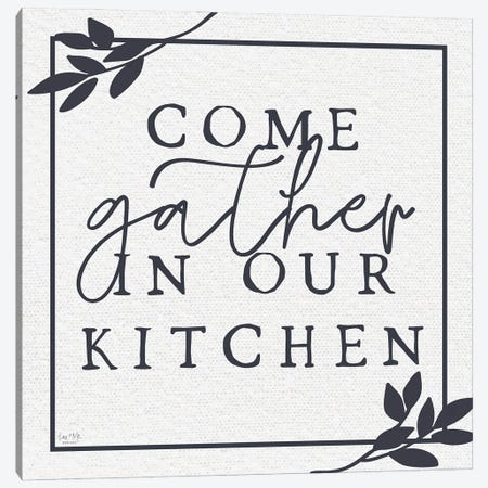 Come Gather In Our Kitchen Canvas Print #LXM72} by Lux + Me Designs Canvas Artwork