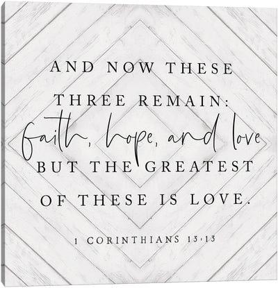 Faith, Hope And Love Canvas Art Print