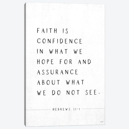 Faith is Confidence Canvas Print #LXM7} by Lux + Me Designs Canvas Print