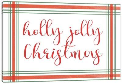 Holly Jolly Christmas Canvas Art Print