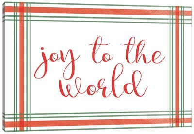 Joy To The World Canvas Art Print