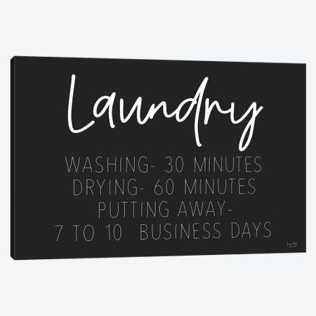 Laundry Schedule Canvas Print #LXM87} by Lux + Me Designs Canvas Wall Art
