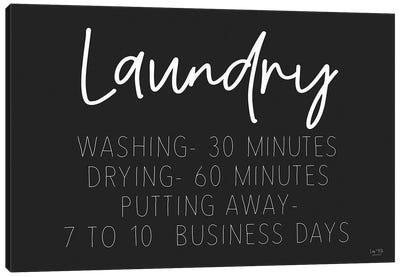 Laundry Schedule Canvas Art Print