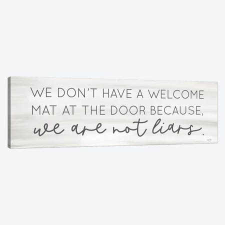 No Welcome Mat Canvas Print #LXM97} by Lux + Me Designs Canvas Art Print