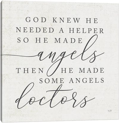 God Made Angel Doctors Canvas Art Print