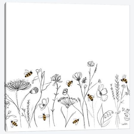 Bees and Botanicals Pattern IX Canvas Print #LYO1} by Leah York Canvas Art Print