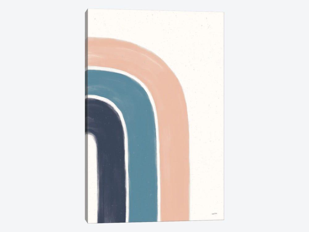 Rainbow I Blue by Leah York 1-piece Canvas Wall Art