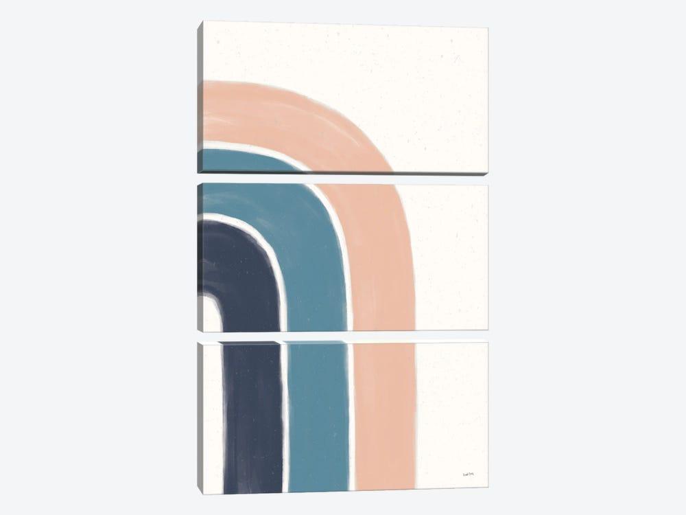 Rainbow I Blue by Leah York 3-piece Canvas Art