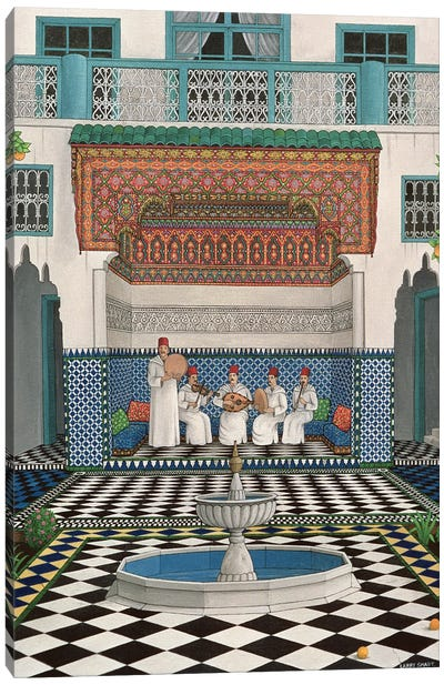 A Riad In Marrakech, 1992 Canvas Art Print