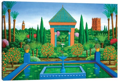 Marjorelle Oranges, 2005 Canvas Art Print