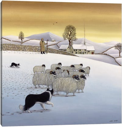 The Fells In Winter, 1984 Canvas Art Print