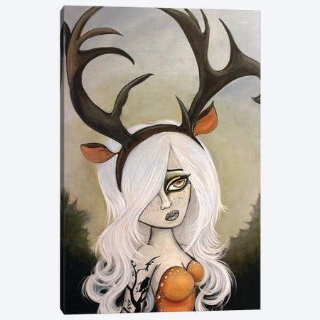 Doe-Eyed Dreamer 3-Piece Canvas #LZF13} by Lizzy Falcon Canvas Art