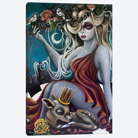 Heavy Crown Canvas Print #LZF25} by Lizzy Falcon Canvas Art