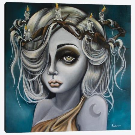 Moonstar Canvas Print #LZF31} by Lizzy Falcon Canvas Art