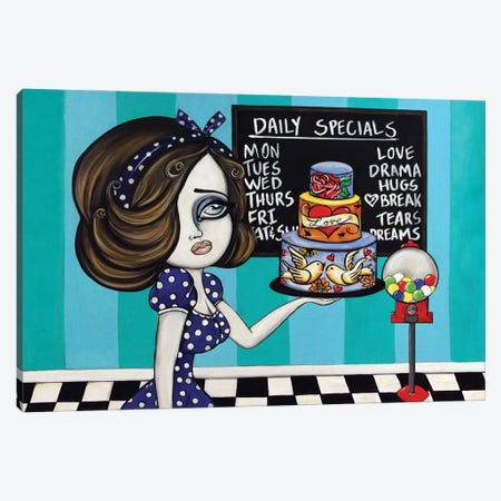 Today's Specials Canvas Print #LZF50} by Lizzy Falcon Canvas Artwork