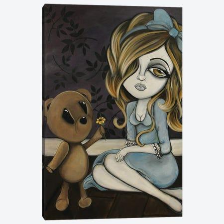 Why So Blue Canvas Print #LZF54} by Lizzy Falcon Art Print