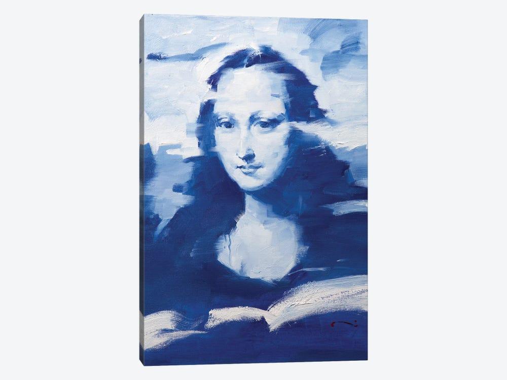 Mona In Blue by Li Zhou 1-piece Canvas Wall Art
