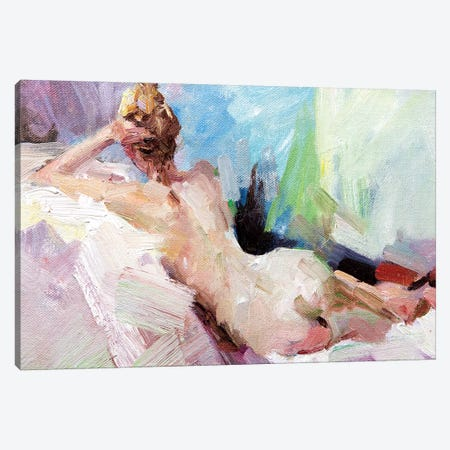On The Couch Canvas Print #LZH24} by Li Zhou Canvas Artwork