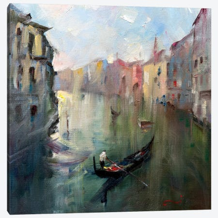 Venice Canal II Canvas Print #LZH31} by Li Zhou Canvas Artwork