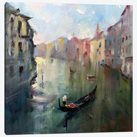 Venice Canal II Canvas Print #LZH31} by Li Zhou Canvas Artwork
