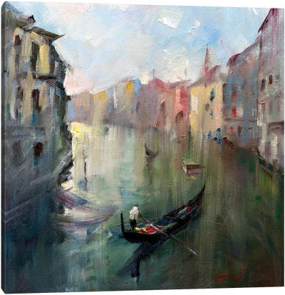 Venice Canal II Canvas Art Print