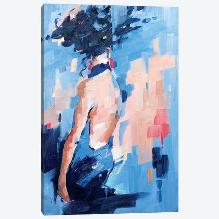 Wait And See Canvas Print #LZH32} by Li Zhou Canvas Wall Art