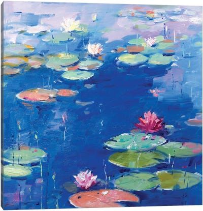 Water Lily VII Canvas Art Print