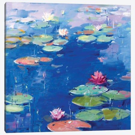 Water Lily VII 3-Piece Canvas #LZH33} by Li Zhou Canvas Wall Art