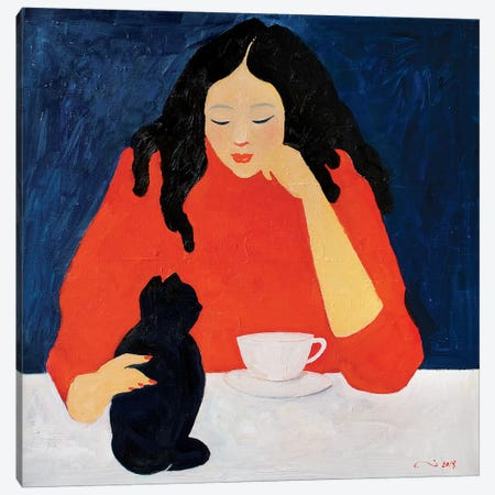 My Sunday Morning Canvas Print #LZH36} by Li Zhou Canvas Print