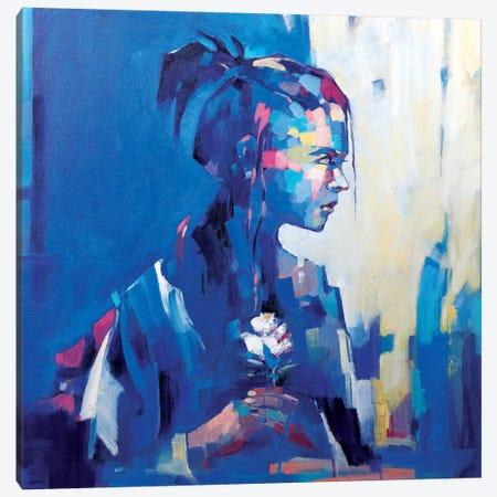 Blue Deja Vu II Canvas Print #LZH3} by Li Zhou Art Print
