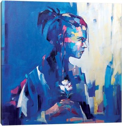 Blue Deja Vu II Canvas Art Print
