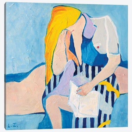 The Reader Canvas Print #LZH50} by Li Zhou Canvas Art
