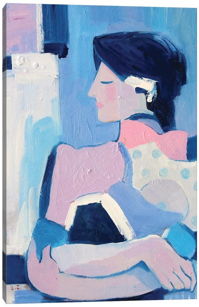 French Blue XVII Canvas Art Print