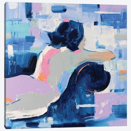 French Blue X Canvas Print #LZH56} by Li Zhou Canvas Art Print