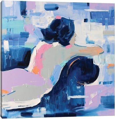 French Blue X Canvas Art Print