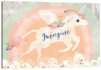 Imagine Unicorn Canvas Art Print