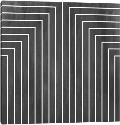 Mid Century Modern Art- Geometric Pattern 90 Canvas Art Print