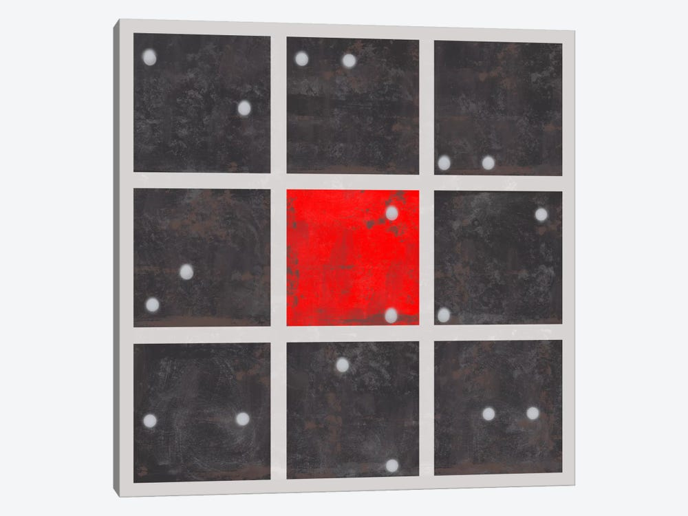 Modern Art-Cube Art Red Dice Center by 5by5collective 1-piece Canvas Art