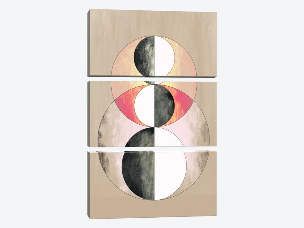 Modern Art - Geometric Prism (After Delaunay) by 5by5collective 3-piece Art Print
