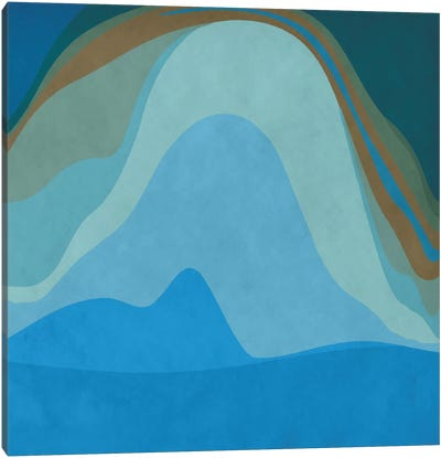 Modern Art- Blue Planet Canvas Art Print